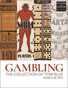 Gambling Memorabilia featuring The Collection of Tom Blue