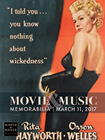 Movie & Music Memorabilia