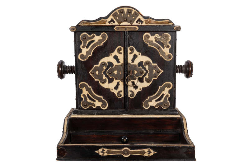 Ornate Playing Card Press Cabinet.