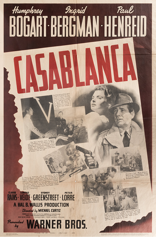 Casablanca First-Release One Sheet Poster