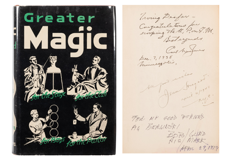 John Northern Hillard. Greater Magic. Minneapolis: Carl Waring Jones, 1938. First edition.