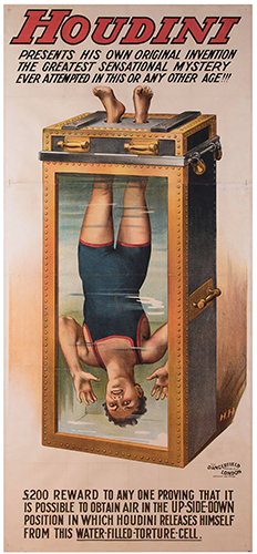 World Record Price - Houdini Poster